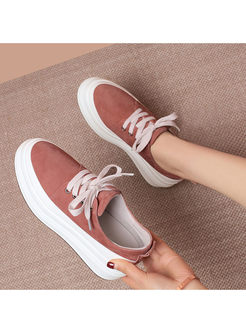 Casual Round Head Platform Shoes