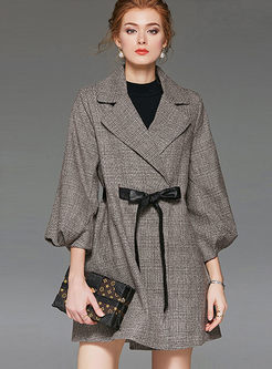 Notched Lantern Sleeve Waist Coat