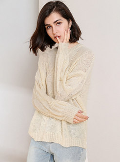 Pure Color All-matched Loose Casual Sweater