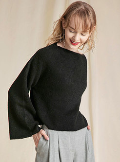 Pure Color Loose All-matched Sweater