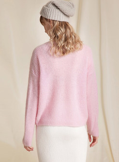 Sexy V-neck Long Sleeve Slight Perspective Pullover Sweater