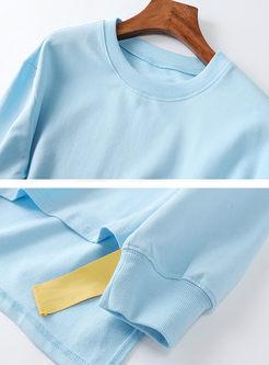 O-neck Loose Bat Sleeve Sweatshirt