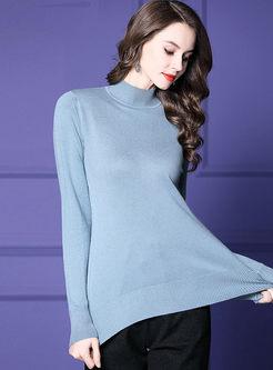 Half Turtleneck Pullover Slim Sweater