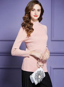 Half Turtleneck Long Sleeve Slim Sweater