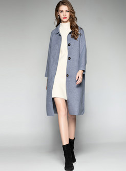 Brief Turn Down Collar Slim Overcoat