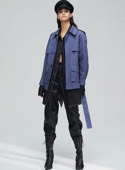 Brief Solid Color Lapel Short Coat