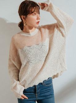 Sexy Transparent Openwork Loose Sweater