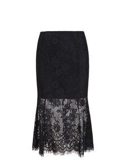 High Waisted Lace Bodycon Mermaid Skirt