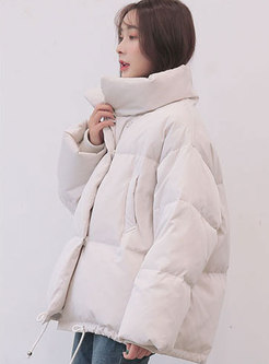 Casual Stand Collar Thicken Loose Bubble Coat