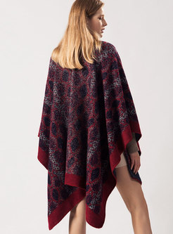 Fashion Print Cloak Thick Scarf