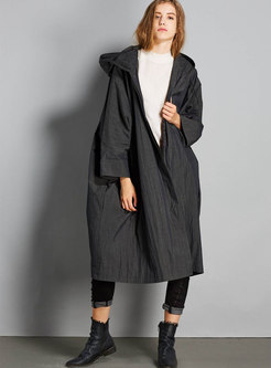 Casual Cloak Loose Hooded Trench Coat