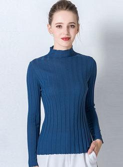 Turtleneck Wool Slim Pullover Sweater