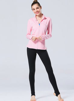 Stand Collar Tight Yoga Jacket