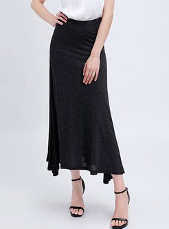 High Waisted Asymmetric Mermaid Skirt