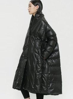 Casual Plus Size Cloak Puffer Coat
