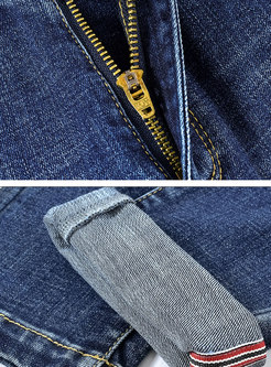 High Waisted Pencil Denim Pants