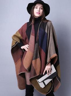 Fashion Muti-color Cloak Thick Scarf