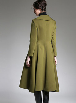 Lapel Double-breasted A Line Trench Coat
