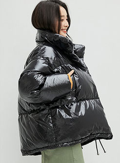 Stand Collar Loose Thick Bread Bubble Coat