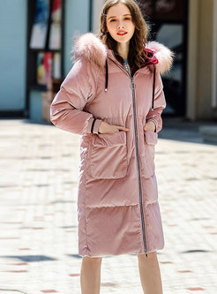 Casual Straight Thick Hooded Puffer Coat
