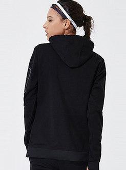 Hooded Slim Patchwork Sport Jacket