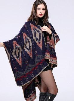Vintage Jacquard Thick Cloak Scarf