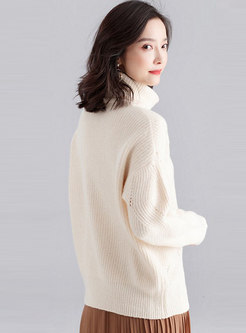 Turtleneck Straight Loose Pullover Sweater