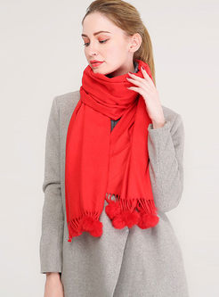 Solid Color Faux Cashmere Thick Scarf