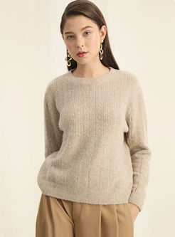 Long Sleeve Pullover Loose Sweater