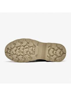 Round Head Short Plush Platform Boots