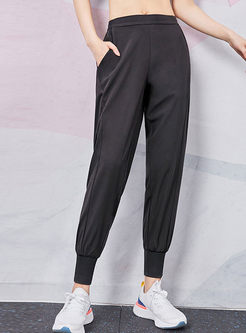 Solid Color Quick-drying Fitness Sweatpants