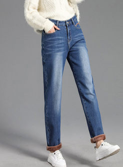 Plus Size High Waisted Straight Pants
