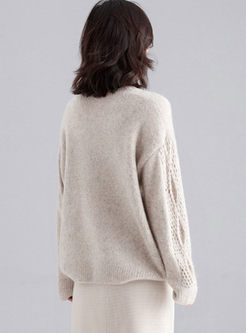 Crew Neck Pullover Loose Sweater