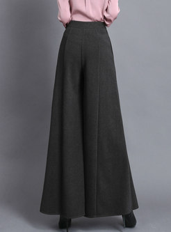 High Waisted Thick Wide Leg Pants
