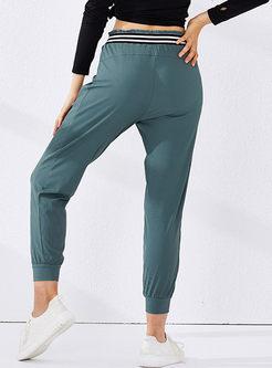 Elastic Waist Harem Gym Sweatpants