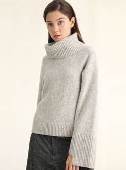 Turtleneck Long Sleeve Loose Knit Sweater