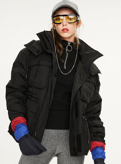 Hooded Drawcord Straight Orolay Coat