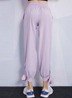Solid Color High Waisted Harem Sweatpants