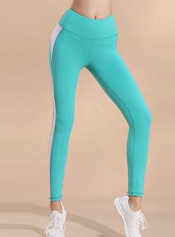 High Waisted Color-blocked Yoga Pants