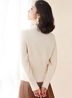 Crew Neck Long Sleeve Thin Cardigan