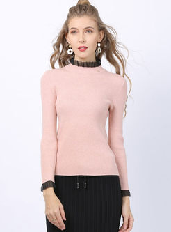 Half Turtleneck Pullover Slim Sweater