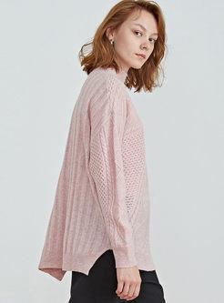 Half Turtleneck Pullover Short Sweater