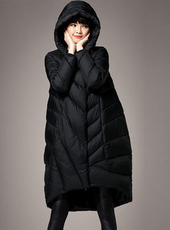 Hooded Loose Plus Size Down Coat