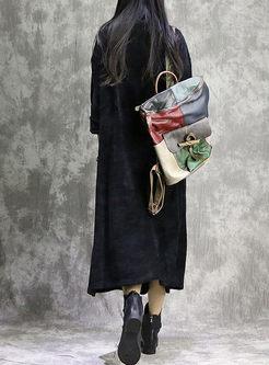 Cowl Neck Long Sleeve Shift Dress