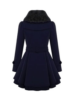 Double-breasted A Line Peacoat With Belt