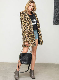 Leopard Hooded Teddy Coat