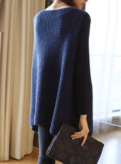 Solid Color V-neck Sleeveless Loose Sweater Vest