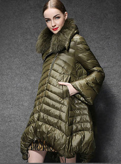 Plus Size Fur Collar Cloak Puff Coat
