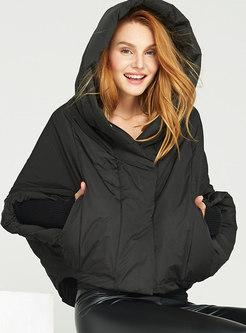 Hooded Cloak Loose Short Down Coat
