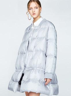 Square Neck Loose Plus Size Puffer Coat